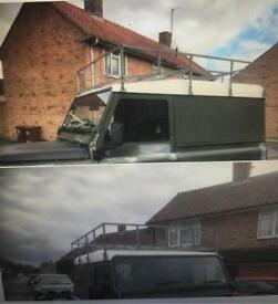 Roof rack and ladder - Land Rover 90