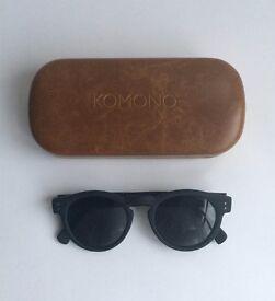 KOMONO CLEMENT Black Rubber Sunglasses