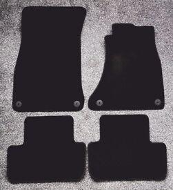 Audi A4 Set of 4 Genuine Carpet Car Mats / velvet / velour / original / genuine / not rubber