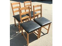 4 x IKEA JOKKMOKK DINING CHAIRS. . . (with seat pads)