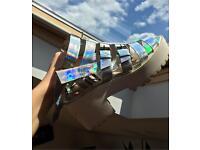 Size 5 Holographic Platform Sandals