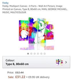 Canvas Wallart - Mulitcolour George Michael