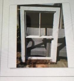 Wooden sash window used