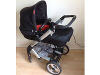 Mamas & Papas Skate pushchair/pram/carrycot 2 in 1 With Rain-Cover, Birth to 15kg