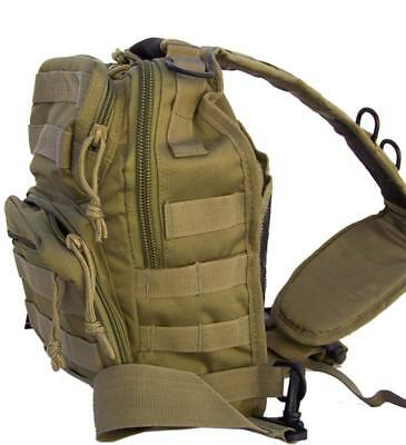 Bolso bandolera viaje coyote casual mochila hombro 10 litros juvenil militar