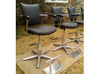 Barber Chairs with Foot Rests - *Free Local Delivery