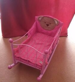 Zapf Creations Baby Chou Chou Bed/Cot/Cradle and Bouncer/Rocker Toys
