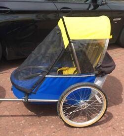 Bike trailer children double Wike