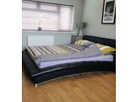 Super King Size Leather Bed in Really Good Condition.
