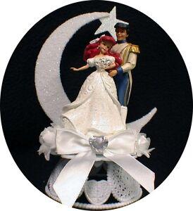 little mermaid prince disney wedding cake topper top 1 ebay. Black Bedroom Furniture Sets. Home Design Ideas