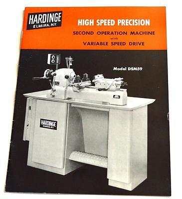 Hardinge Dsm59 High Speed Precision Brochure
