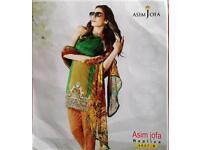 Pakistani Indian Asian unstitched clothes/suit