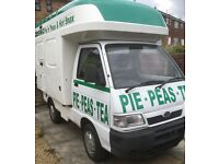Catering van ready for work