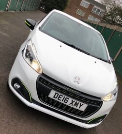 Peugeot 208 XS lime 2016 white only £20 tax low mileage !