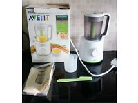 Philips Avent Baby food blender steamer 2 in 1 with manual