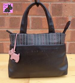RADLEY - Mini Black Leather Grab Bag *Excellent*
