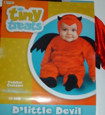 Toddlers Led Halloween Costume (NWT Devil w/ wings Halloween costume 12-18)