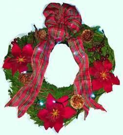 Conifer christmas wreath
