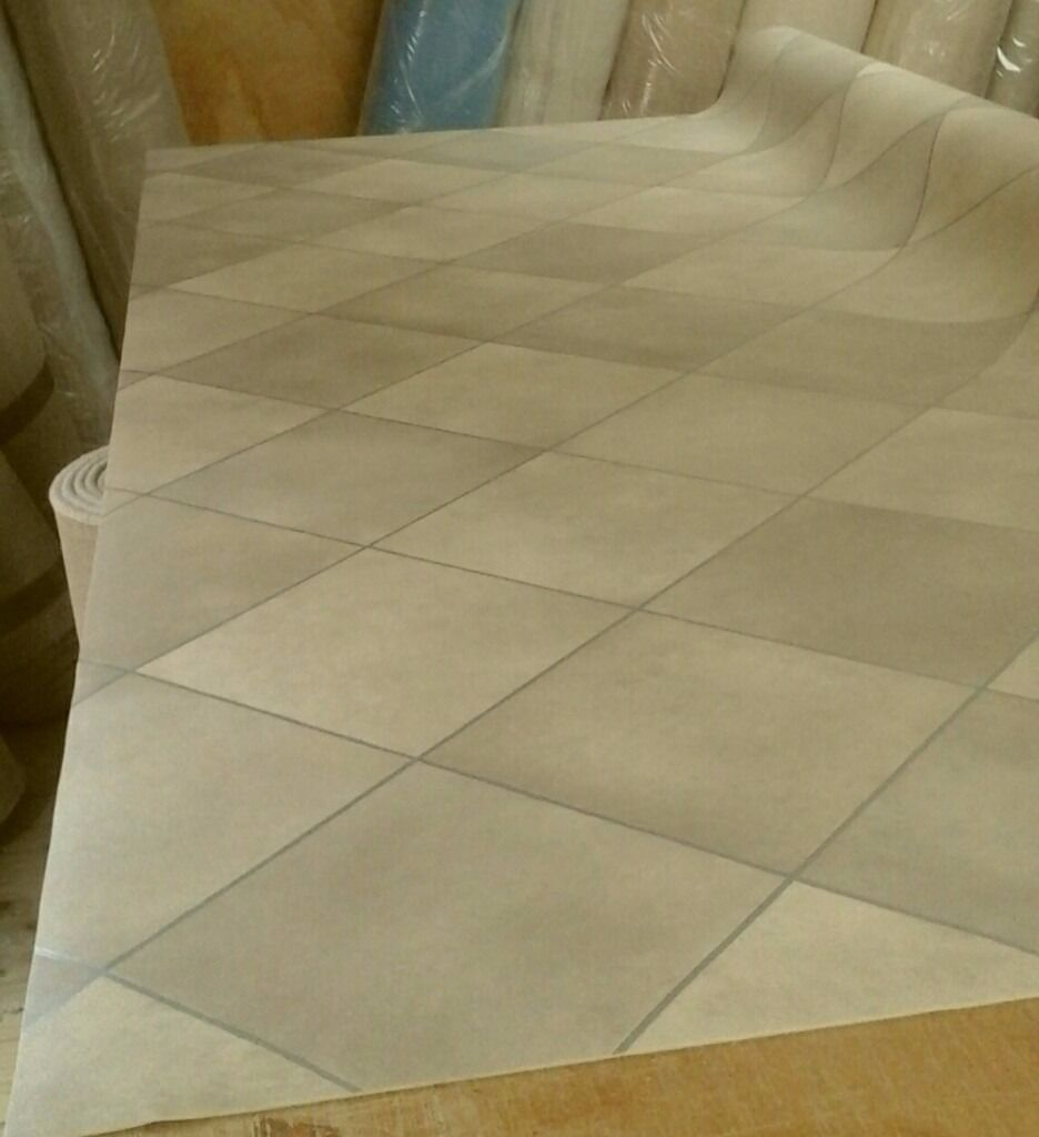 New Cushioned Vinyl Flooring Roll End Remnant Off Cut Size