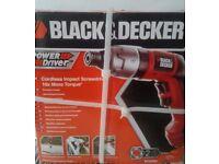Black & Decker Cordless Power Driver ~ Brand New in Box