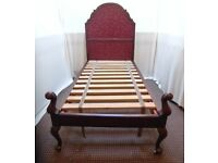 SINGLE ANTIQUE WOODEN BED FRAME