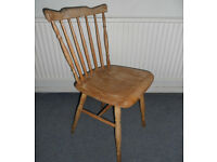Hardwood Stick Back Chair Ideal for Painting