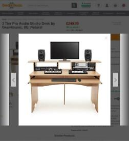 Gear for music music production desk rrp £250