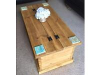 Hand made rustic coffee table/ storage unit
