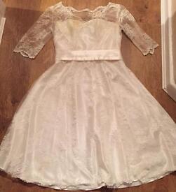 50s/60s style wedding dress