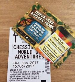 Chessington Tickets x2 - 15/06/17