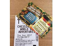 Chessington Tickets x2 - 15/06/17