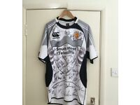 Exeter Chiefs Signed Rugby Away Shirt, 2006/07, Size Large