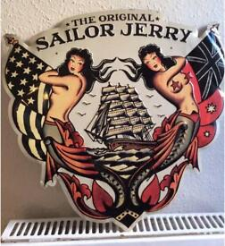 Sailor Jerry Metal/tin Wall Sign Rum Memorabilia home decor