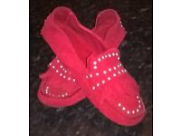 Red Zara's shoes size 6