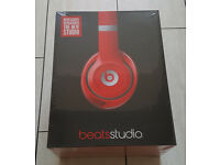 BRAND NEW Sealed - Beats by Dr Dre Studio 2.0 Wired Over Ear Headphones Earphones - Red