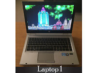 8 Different Business Class Laptops HP Probooks/Elitebook - SSD's - i5 - HD - WIN 10 - Office 2016
