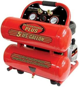 KING CANADA 5 GALLON Twin Tank Air Compressor