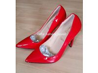 Ladies Shoes Heels Red Christian Louboutin High heel Louis Vuitton Lv £35