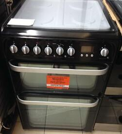 ***NEW Hotpoint 60cm wide duel fuel cooker for SALE with 1 year warranty ***