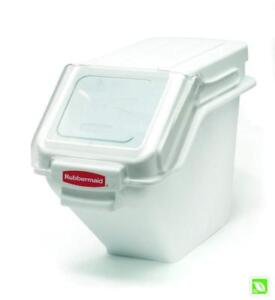 NEW Rubbermaid Commercial Products FG9G5700WHT PROSAVE Shelf Ingredient Bin