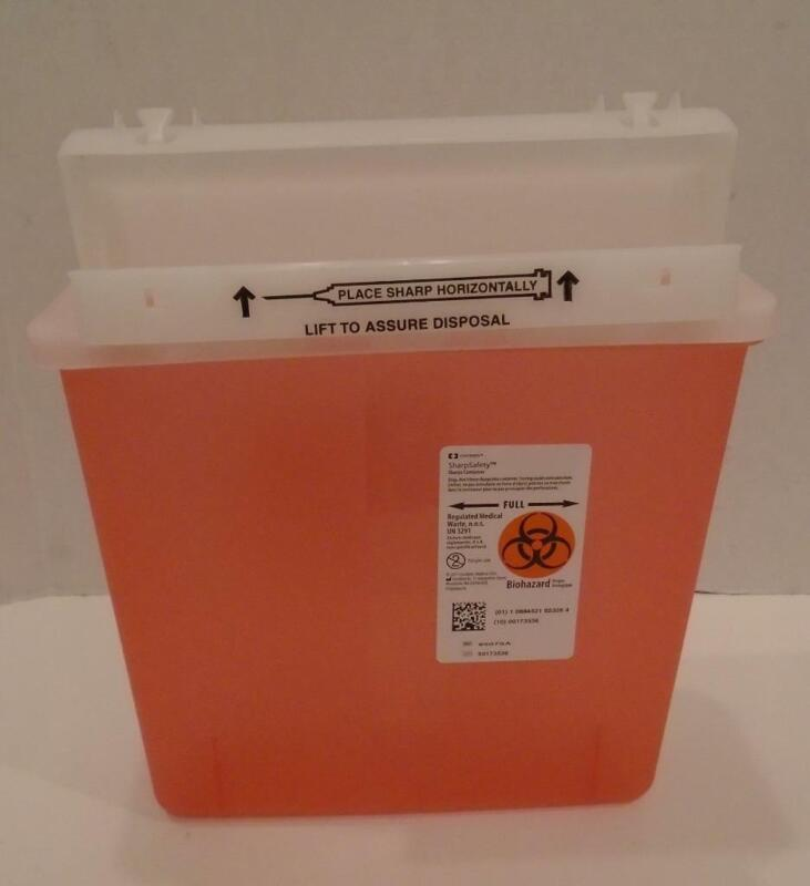 Sharps Container 5 Qt Counterbalance Lid 8507SA, lot of 8