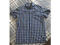 G-Star Blue Check Shirt Size L - £17