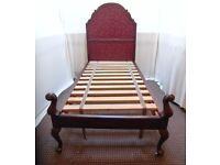 SINGLE ANTIQUE WOODEN BED FRAME