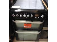 ***NEW Hotpoint 60cm wide duel fuel cooker for SALE with 1 year guarantee ***