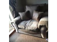 Armchair/cuddler chair