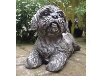 Stone Large Dog Garden Ornament Weatherproof