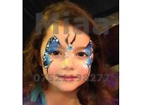 Face Painting - Book now for your special Summer Event and/or Private party