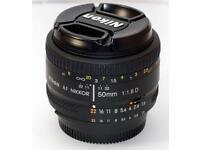 Nikon 50mm Nikon AF Nikkor 1:1.8 + UV filter
