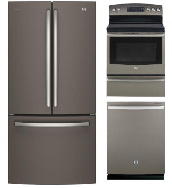 ensemble lave vaisselle r frig rateur et cuisini re fini ardoise stoves ovens ranges. Black Bedroom Furniture Sets. Home Design Ideas
