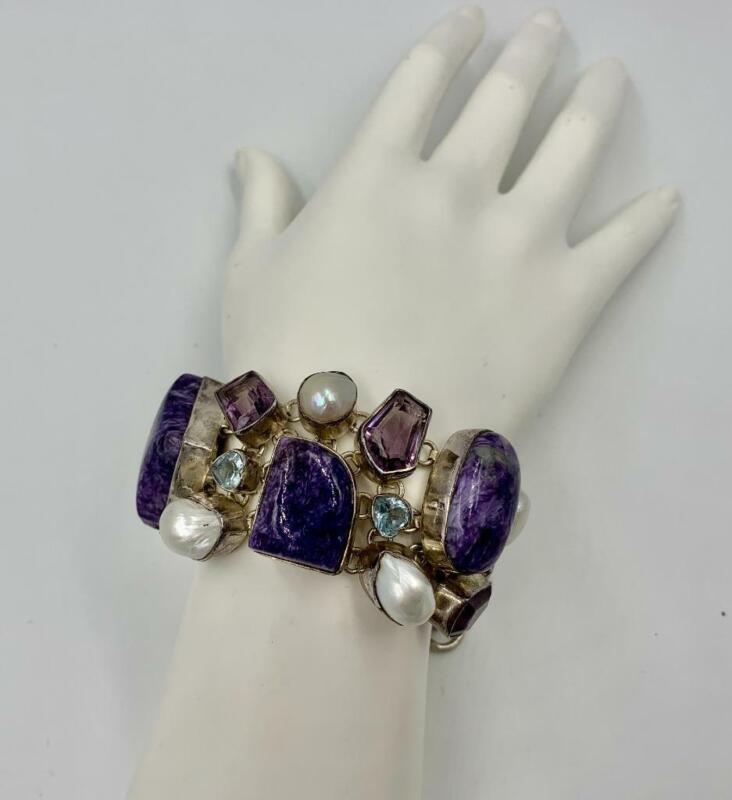 Jessye Norman Estate Amethyst Bracelet Pearl Rock Crystal Opera Legend Singer